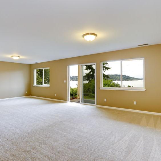 short carpet in a living room